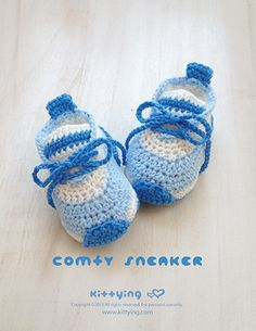 "Comfy Preemie Sneakers Crochet Pattern Kittying Crochet Pattern by kittying.com from mulu.us  This pattern is designed in preemie size OR 18"" Doll (American Girl) size."