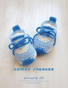 "Comfy Preemie Sneakers Crochet Pattern Kittying Crochet Pattern by kittying.com from mulu.us This pattern is designed in preemie size OR 18"" Doll (American Girl) size."
