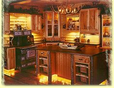 Image detail for -the crisp mountain air as you step into our Log Cabin Kitchen ...