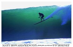 Matt Howard at Rincon on a Cooperfish Hornet, photo John Nordstrand