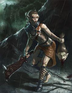 Evil Art | Dialda (evil) Picture (2d, fantasy, girl, female, warrior, evil, blood ...