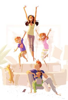 Pascal Campion 196 (Morning Calisthenics by Pascal Campion) Pascal Campion, Bwwm, Couple Art, Children's Book Illustration, American Artists, Fantasy Art, Concept Art, Art Drawings, Character Design