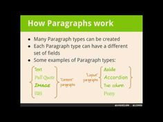 Using Paragraphs to