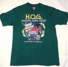 cfbe43fe9015 Harley Davidson Fort Meyers Florida State Rally 1997 Hog Heaven Shirt Adult  M