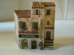 Gault Avocat Lawyer Attorney Clay Miniature Building Dominique Two 2 Story