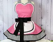 Café Waitress Retro Pinup Pink Apron I made this cute and sexy little pink cafe waitress apron with some nice black, pink, and white cotton fabrics, Pink Apron, Retro Apron, Aprons Vintage, Vintage Sewing, Pink Cafe, Waitress Apron, Cute Aprons, Sewing Aprons, Check Fabric
