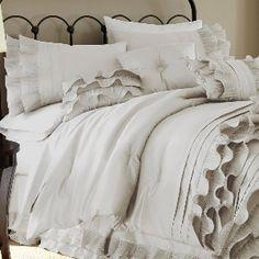 Queen Anastacia 8-Piece Comforter Set in Pearl White