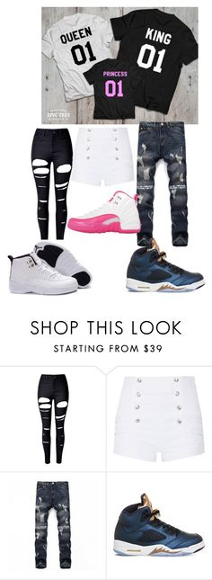 """Family Goals Hun😍"" by shariahwilson22 ❤ liked on Polyvore featuring beauty, WithChic, Pierre Balmain and NIKE"