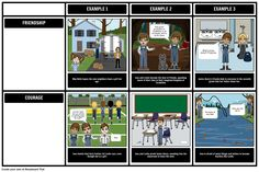 "Themes, symbols, and motifs come alive when you use a storyboard. In this activity, students will identify a theme of ""Bridge to Terabithia"", and support it with evidence from the text."
