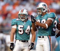 Zach Thomas and Jason Taylor getting inducted into the Miami Dolphins honor roll this week.