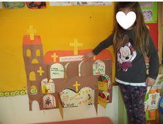 ...Το Νηπιαγωγείο μ' αρέσει πιο πολύ.: Τα πάθη του Χριστού σε μία Εκκλησία ! Φτιάχνουμε Λαζαράκια με φίλτρο καφέ και γλωσσοπίεστρα.