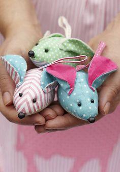 vintage fabric mouse by little ella james | notonthehighstreet.com