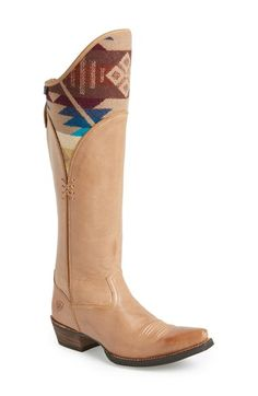 Ariat 'Caldera' Western Boot (Women) available at Cowgirl Boots, Western Boots, Pendleton Woolen Mills, Western Chic, Native American Fashion, Boot Shop, Western Outfits, Fashion Boots, Leather Boots