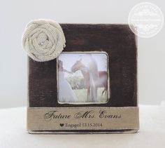 Engagement Gift Personalized Picture Frame by CrystalCoveDS $27.95