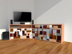 Vooraanzicht TV dressoir