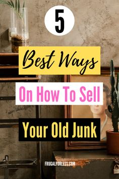 5 best ways to sell your junk for cash. This is a great way for some easy extra money, especially if you need money fast. Look around your home and use these resources to sell clutter that you ultimately don't need. Make Easy Money, Make More Money, Ways To Save Money, Money Saving Tips, Extra Money, Make Money Online, Hustle Money, Save Money On Groceries, Money Quotes