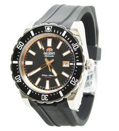 Orient Sporty FAC09003B0 Black Dial Black Rubber Band Men's Watch