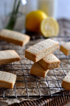 Lemon Shortbread (grain/dairy/egg/refined sugar free) // thefoodieteen.com