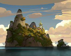 Island sketch by yakonusuke.deviantart.com on @DeviantArt