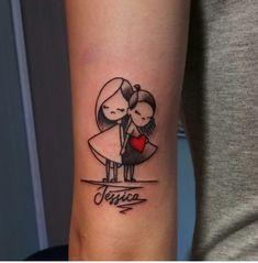 Besties - My list of best tattoo models Daddy Tattoos, Tiny Wrist Tattoos, Sibling Tattoos, Anklet Tattoos, Best Friend Tattoos, Couple Tattoos, Body Art Tattoos, Small Tattoos, Cool Tattoos For Girls