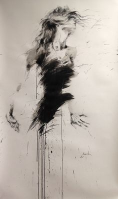 ewa hauton 150x90cm ink on paper http://ewahauton.wix.com/peinture