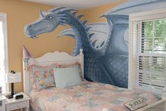 Dragon Bedroom Mural (detail), acrylic on wallboard, © Peter K. Engelsmann