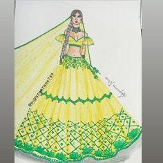 Fashion Illustration Collage, Dress Illustration, Fashion Illustration Dresses, Dress Design Sketches, Fashion Design Drawings, Fashion Sketches, Fashion Sketch Template, Holi Special, Chocolate Custard