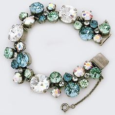 Sorrelli Seaside Collection. The most ornate bracelet in this collection. Glistening pale crystals create a beautiful bridal bracelet or an everyday statement.
