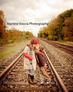 kids.  railroad track. smooches!