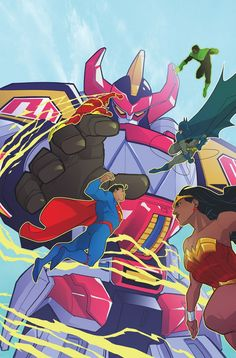 INJUSTICE Writer Pits MIGHTY MORPHIN POWER RANGERS Against JUSTICE LEAGUE For 'Mayhem, Explosions, & Robot Dinosaurs'