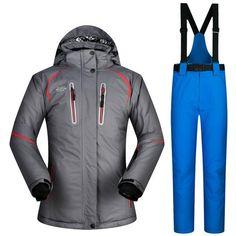 Mutusnow Brand Unisex Autumn Winter Women S Ski Suit Jacket And Pants  Windbreaker Breathable Thermal Set 371e9d22d
