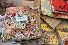 Pam Garrison Art Journaling Class- Kraft paper cover