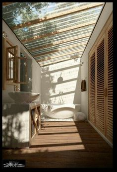 Here are the Ideas For Outdoor Bathroom Design. This article about Ideas For Outdoor Bathroom Design was posted under the Bathroom category by our team at September 2019 at pm. Hope you enjoy it and don't forget to . Interior Exterior, Exterior Design, Interior Architecture, Interior Livingroom, Natural Architecture, Spanish Architecture, Outdoor Baths, Outdoor Bathrooms, Outdoor Toilet