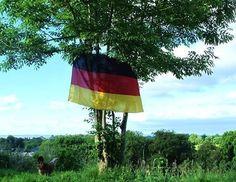 Nicole EndCiv: Deutsche Flagge weht in Irland für die Jungs in Brasilien. Die ist schon recht alt, war an der Mauer schon dabei und hängt jetzt hoch am Fuße der Cooley Mountains für unser super Deutsches Team. Wir schauen gespannt jedes Spiel an, Ihr seid klasse, great team spirit :) Viel Glück und liebe Grüsse aus Irland von uns