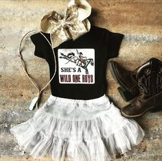 Wild One Saddle Bronc Onesie Western Baby Names, Western Baby Clothes, Western Babies, Cute Baby Names, Baby Kids Clothes, Country Babies, Cute Baby Girl Outfits, Cute Outfits For Kids, Simple Outfits