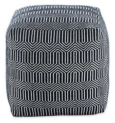 """Happy Chic by Jonathan Adler """"Elizabeth"""" square pouf 