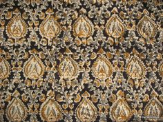 Mughal Motifs Handprinted Cotton Kalamkari Fabric Sold by Yard