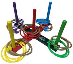 K-Roo Sports Plastic Horseshoe And Ring Toss Game Set By 2 In 1