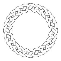 Celtic knot-work circle garland by Peter Mulkers - Ornamental Viking Designs, Celtic Knot Designs, Celtic Symbols, Celtic Art, Celtic Dragon, Stencil Patterns, Pattern Art, Zentangle Patterns, Celtic Quilt