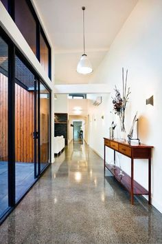 Modern polished concrete floors pros cons modern home flooring ideas. Concrete Kitchen, House Design, House Flooring, Concrete Bathroom, Contemporary House, Concrete Stained Floors, Concrete Floors Living Room, Concrete Interiors, Flooring Options