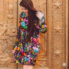 Floral colorful shein spring tunic dress