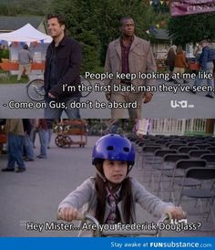 Ok, I have never seen this show but I think I need to because i almost spat some half-chewed banana all over my computer because I was trying not to laugh out loud at work. Psych Memes, Psych Quotes, Psych Tv, Tv Show Quotes, Movie Quotes, Memes Humor, Shawn And Gus, Shawn Spencer, Best Tv Shows