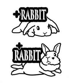 STICKER-Lsize Rabbit, Snoopy, Stickers, Fictional Characters, Design, Art, Bunny, Art Background, Rabbits