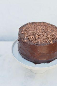 Chocolate Fudge Cake (with Chocolate Avocado Frosting)