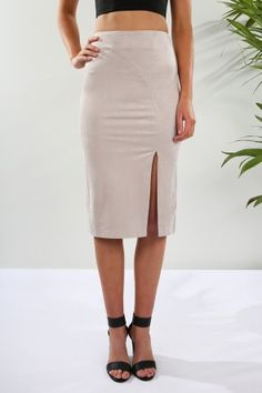 So Smooth Skirt Suede $59.00 Shop // http://www.jeanjail.com.au/so-smooth-skirt-suede.html