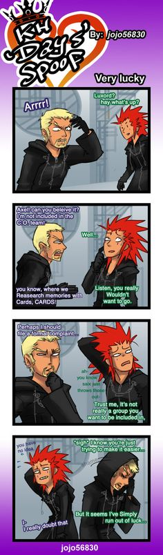 I've thought about this since Luxord's introduction.