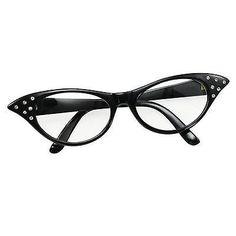 Para Adultos Damas 1950 Black Rock N Roll Ojo De Gato Gafas Fancy Dress especificaciones ba142b