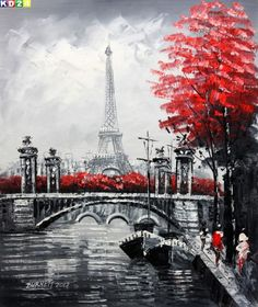 Are you looking for Paint By Number Eiffel Tower Kit? You'll find plenty of beautiful paint by number kits of the Eiffel Tower in Paris. Paris Kunst, Paris Art, Torre Eiffel Paris, Paris Eiffel Tower, Eiffel Towers, Paris Painting, Diy Painting, Painting Styles, Acrylic Painting Lessons