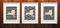 United States Military Academy Set of Three Giclée by PaintedPost, $37.00