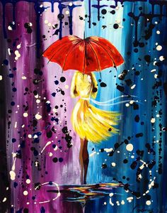 Best Abstract Acrylic Painting Images - Art & Craft lifestyle tips by saba Umbrella Painting, Rain Painting, Umbrella Art, Easy Canvas Painting, Painting & Drawing, Canvas Art, Acrylic Painting Images, Acrylic Art, Painting Lessons